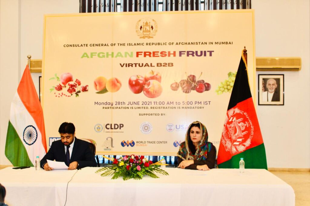 Afghan Fruit Virtual Business Matchmaking Event Hosted in India