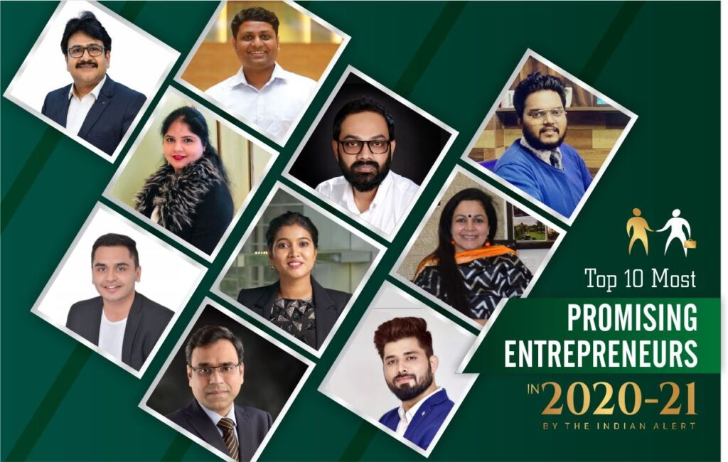 Top 10 Most Promising Entrepreneurs 2020-21 honoured by the Indian Alert