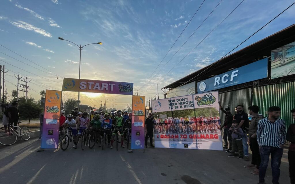 Cycle Strike: Event concluded in the presence of Deputy Commissioner of Gulmarg